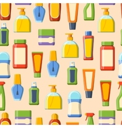 Perfume tube seamless pattern vector