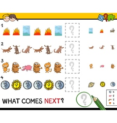 Educational pattern game vector