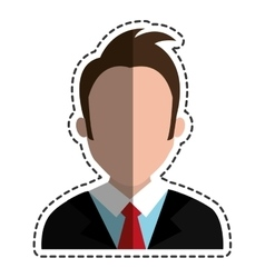 Young man male avatar vector