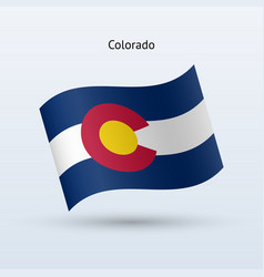 state of colorado flag waving form vector image