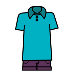 Casual and youth male clothing vector