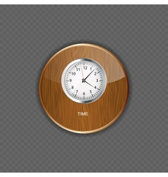 Watch wood application icons vector