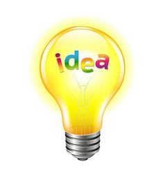 Bulb With Text Idea vector image