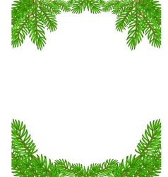 Christmas decoration border isolated on white back vector