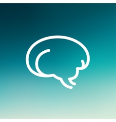Human brain thin line icon vector
