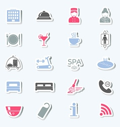 Hotel services icons Stickers vector image