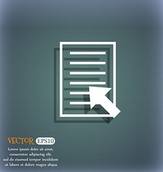 Text file sign icon file document symbol on the vector