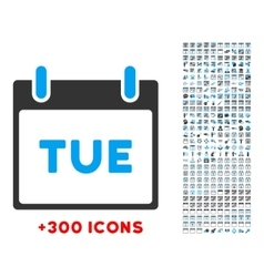 Tuesday flat icon vector