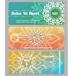 Thai calligraphic design gift card bonus card and vector
