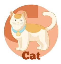 Abc cartoon cat2 vector
