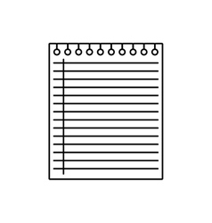 Piece of paper icon notebook design vector