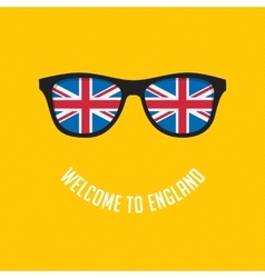 British flag in glasses vector