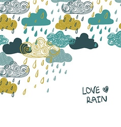Colorful Rain Clouds Background vector image