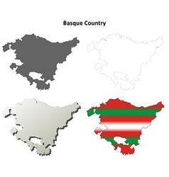 Basque country outline map set - basque version vector