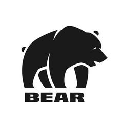 Bear monochrome logo vector