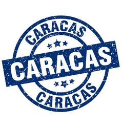 Caracas blue round grunge stamp vector