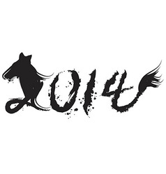 chinese horse year 2014 vector image vector image