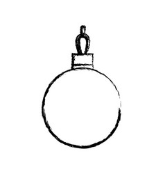 Christmas ball decorated party ornament design vector