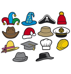 collection of hats vector image vector image