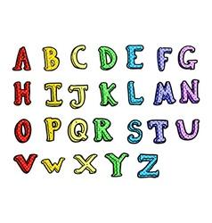 comic cartoon alphabet vector image