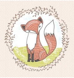 Cute little fox for children vector image vector image