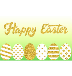 easter eggs border vector image vector image
