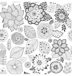 Flower pattern colorful seamless botanic vector