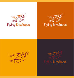 flying envelopes vector image vector image