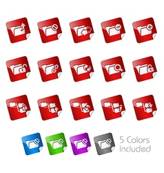 Folder Stickers vector image vector image