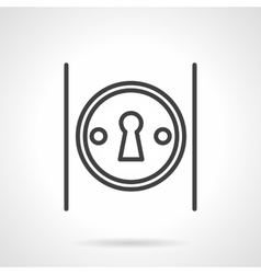Keyhole on door simple line icon vector