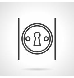 Keyhole on door simple line icon vector image vector image