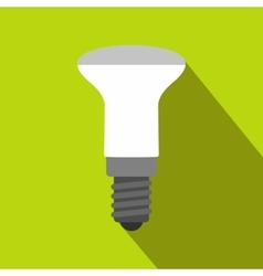 LED bulb icon flat style vector image vector image