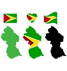 Map guyana vector