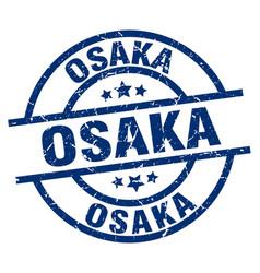 Osaka blue round grunge stamp vector