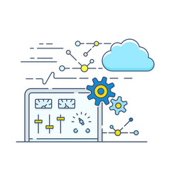 Personal cloud control panel vector