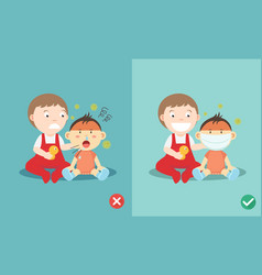 right and wrong ways to protect vector image vector image
