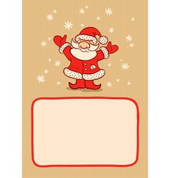 Santa and snow vector image