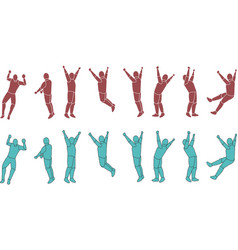 Silhouette Exercising b vector image vector image