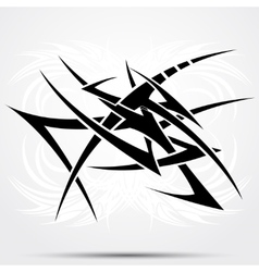 Tribal tattoo abstraction vector