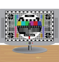 TV-LCD vector image vector image