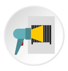 Bar code on cargo icon flat style vector