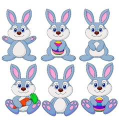 Rabbit carton set vector image