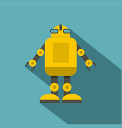 Yellow machine icon flat style vector