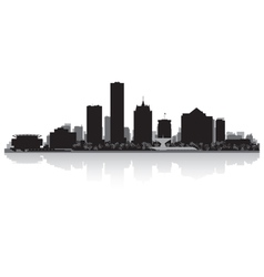 Milwaukee usa city skyline silhouette vector