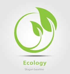 Ecology business icon vector