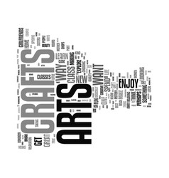 Enjoy arts and crafts text background word cloud vector