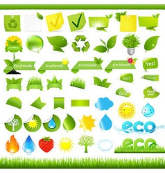 Eco set vector