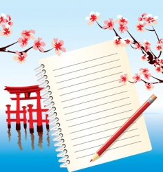 notebook japan vector image