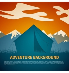 Adventure background vector