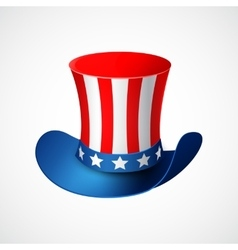 American independence day holiday hat vector